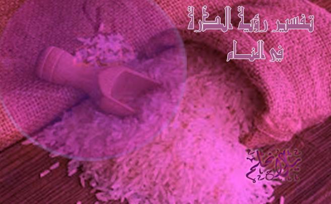 تفسير رؤية الأرز في المنام